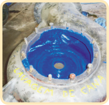 revestimento Plasteel bomba lavagem cana inox 1