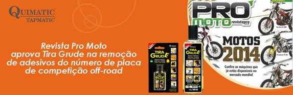 Revista Pro Moto aprova Tira Grude na remoção de adesivos do number plate