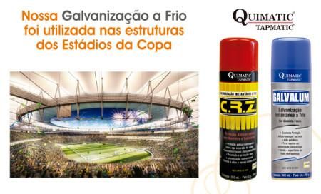 Galvanização a frio da Quimatic Tapmatic é utilizada na reforma dos estádios da Copa do Mundo 2014