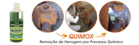 Removedor de ferrugem Quimox é utilizado em vasos de pressão