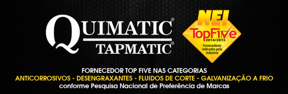 Quimatic Tapmatic indicada ao NEI TOP FIVE 2014
