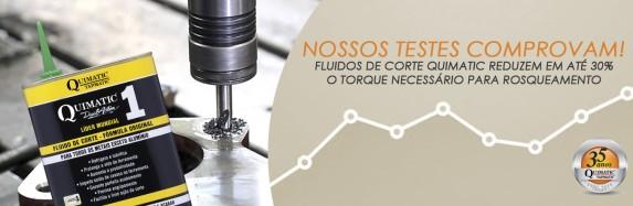 Teste da Quimatic Tapmatic comprova que fluido de corte diminui torque na usinagem e aumenta vida útil de máquinas e ferramentas!