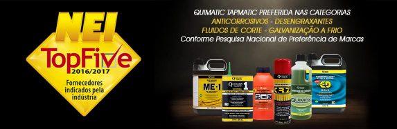 NEI TopFive comprova novamente a preferência da indústria pelos produtos da Quimatic Tapmatic