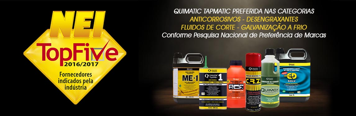 Quimatic Tapmatic no TOP FIVE da revista NEI