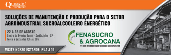 Quimatic Tapmatic na Fenasucro & Agrocana 2017